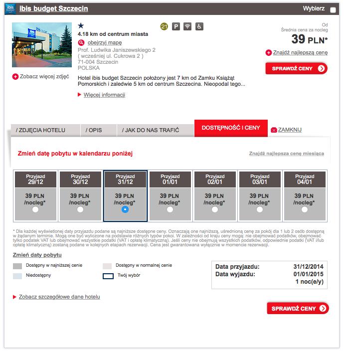 Hotel ibis budget Szczecin 39 zl