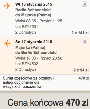 13-01-2015 Majorka z Berlina Schonefeld za 215 zł RT 2