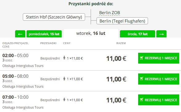 2016-02-16 Flixbus Interglobus Szczecin Berlin Tegel 11 EUR