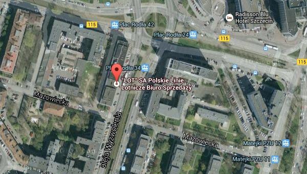 PLL LOT biuro Szczecin
