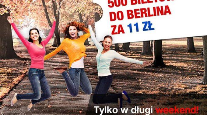 Interglobus: 500 biletów ze Szczecina do Berlina po 11 zł