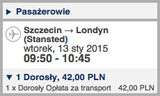 Szczecin - Lizbona - Szczecin 250 zl 1