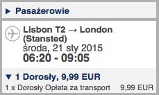 Szczecin - Lizbona - Szczecin 250 zl 3