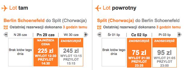 2015-06-29 Split Chorwacja tanio zrzut easyjet
