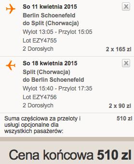 2015-04-11 Chorwacja Split easyJet