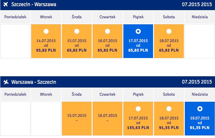 2015-06-11 Szczecin Warszawa Promocja LOT 157 kal