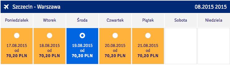 2015-06-11 Szczecin Warszawa Promocja LOT 70