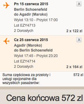 2015-06-15 Berlin Agadir Maroko wakacje easyjet  dluzszy