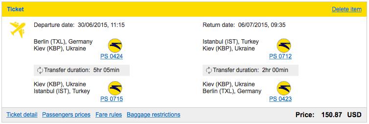 2015-06-30 Ukraine International Airlines Berlin Kijow Stambul