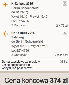 2015-07-12 Salzburg Berlin easyjet wakacje jedendzien