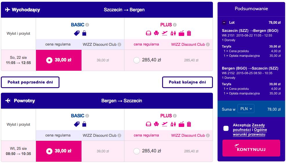2015-08-22 Szczecin Bergen wizz air