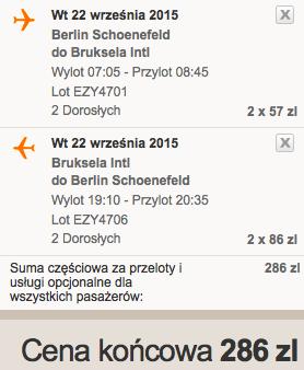 2015-09-22 Berlin SXF Bruksela BRU jednodniowka