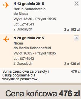 2015-11-13 Berlin Schonefeld Nicea Francja easyjet tydzien