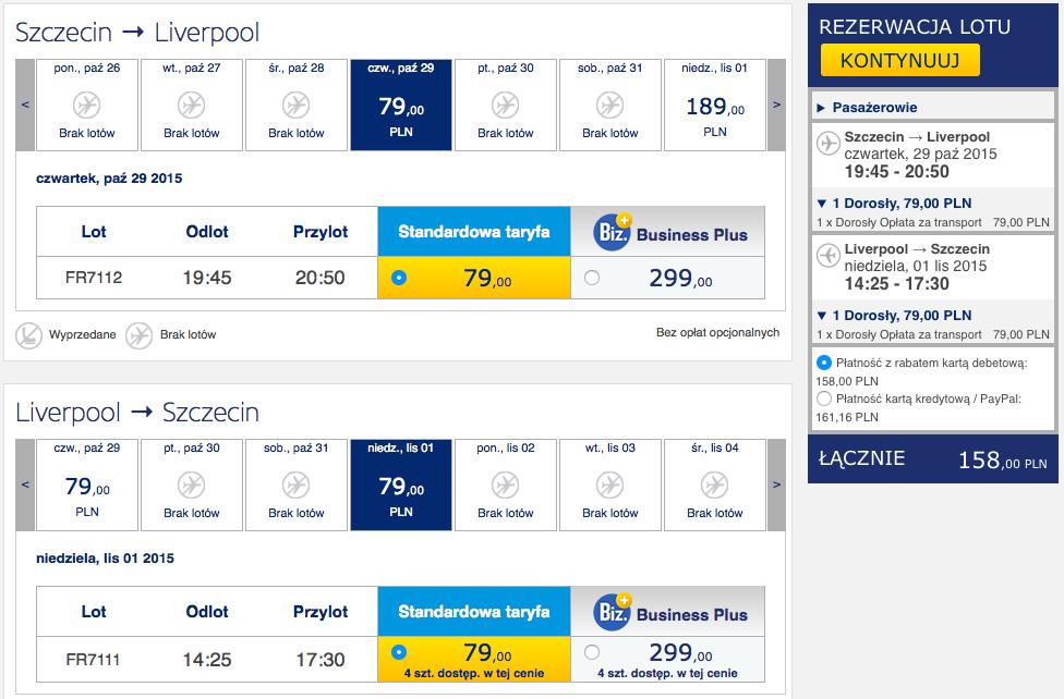 2015-11-29 Szczecin Liverpool ostatni lot za 158 zł RT Ryanair
