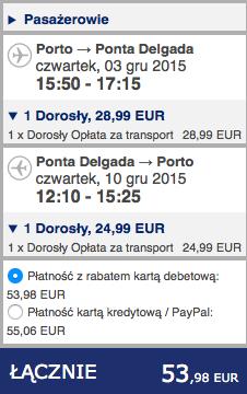 2015-12-03 Porto Ponta Delgada na Azory ryanair dluzej