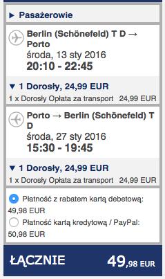 2016-01-13 Berlin Schonefeld Porto Ryanair 210 zl