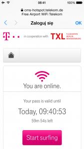 Berlin Tegel free internet wi-fi login