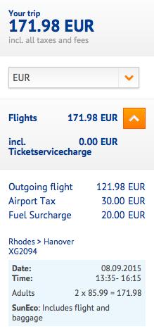 2015-08-29 Berlin Schonefeld Rodos SunExpress we dwoje