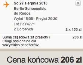 2015-08-29 Berlin Schonefeld Rodos easyJet we dwoje