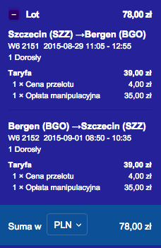 2015-08-29 Szczecin Bergen wakacje weekend 78 zl RT