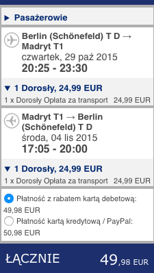 2015-10-29 Berlin Madryt Ryanair 210 zl RT