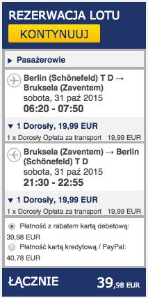 2015-10-31 Berlin Bruksela jednodniowka weekend ryanair 168 zl tr