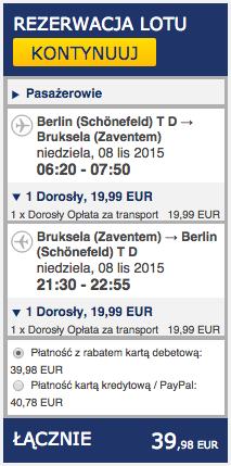 2015-11-08 Berlin Bruksela jednodniowka weekend ryanair 168 zl tr