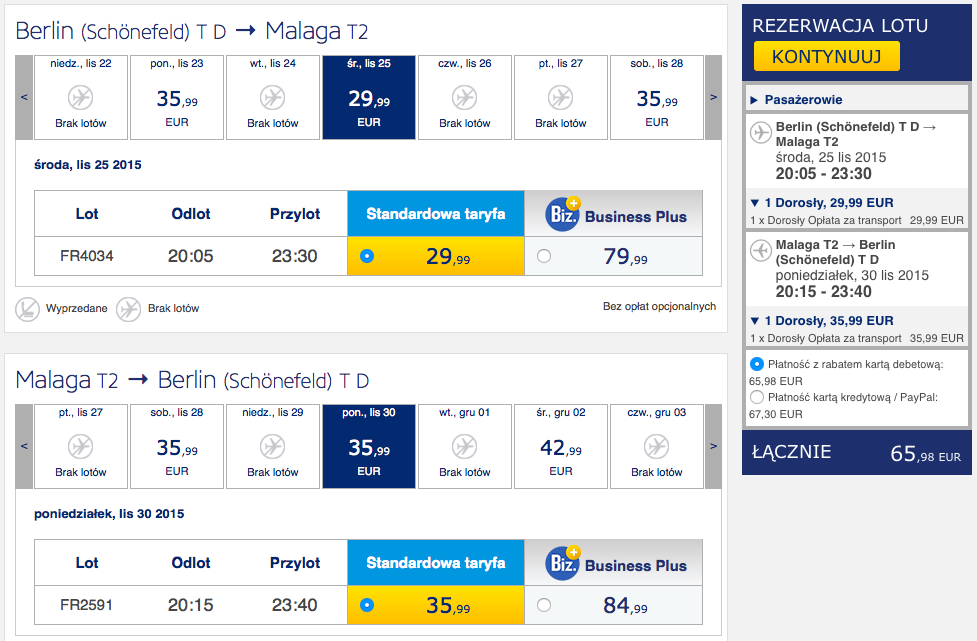 2015-11-25 Berlin Malaga Sewilla Ryanair