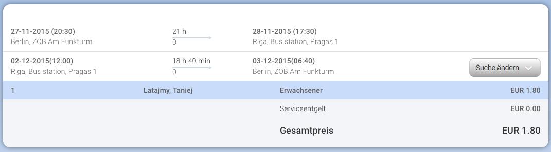 2015-11-27 Berlin ZOB Ryga Lotwa za 8 zl RT Eurolines rezerwacja
