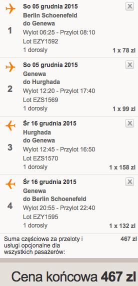 2015-12-05 Berlin Egipt Hurghada easyJet samotnie dluzej