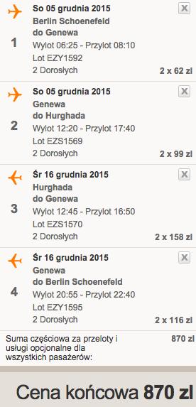 2015-12-05 Berlin Egipt Hurghada easyJet we dwoje dluzej