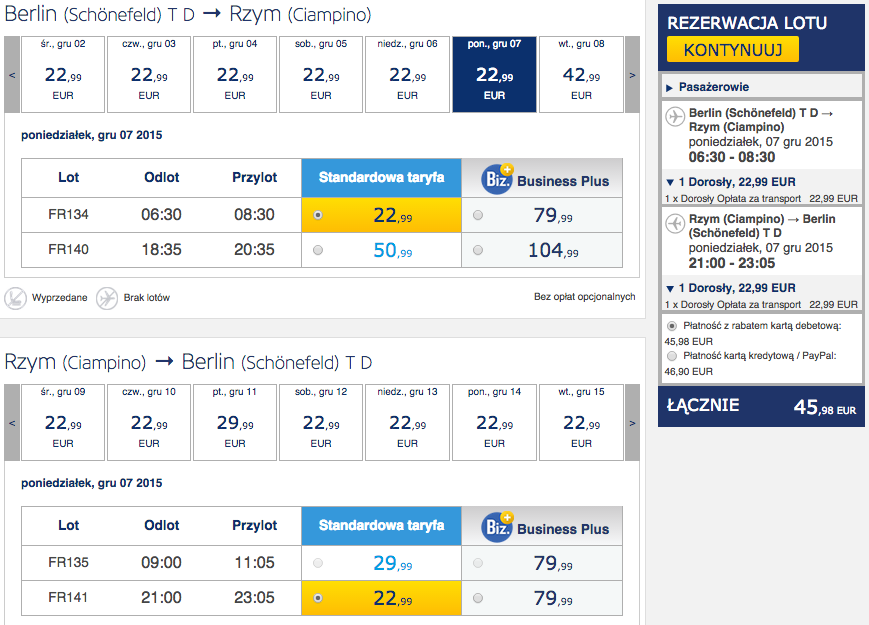 2015-12-07 Berlin Rzym 190 RT Ryanair jednodniowka