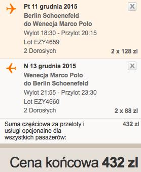 2015-12-11 Wenecja Marco Polo z Berlina za 216 zl RT razem