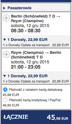 2015-12-12 Berlin Rzym 190 RT Ryanair jednodniowka weekend