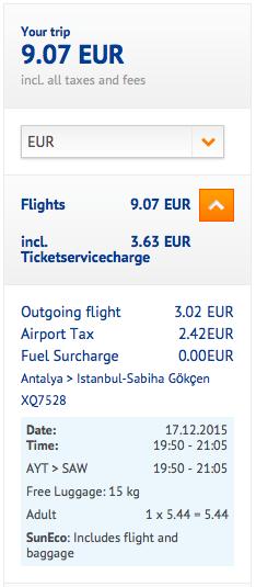 2015-12-13 Berlin Antalya Stambul Condor SunExpress Pegasus 2