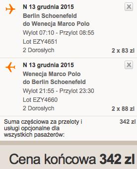 2015-12-13 Wenecja Marco Polo z Berlina za 171 zl RT razem