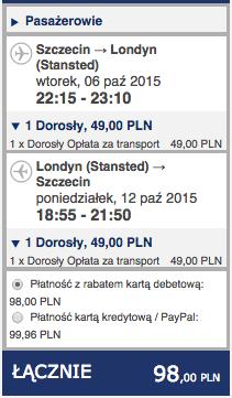 2015-10-06 Szczecin Londyn Bordeaux 198 zl Ryanair 1