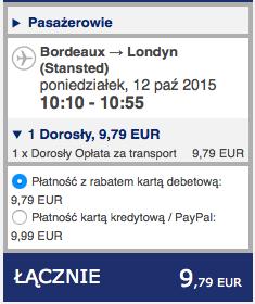 2015-10-06 Szczecin Londyn Bordeaux 198 zl Ryanair 3