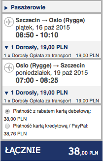 2015-10-16 Szczecin Oslo Moss Rygge Ryanair 38 zl RT