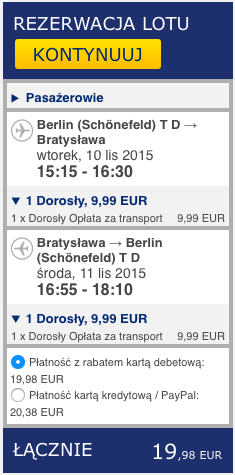 2015-11-10 Berlin Bratyslawa 86 zl Ryanair doba