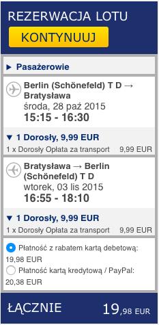 2015-11-10 Berlin Bratyslawa 86 zl Ryanair tydzien