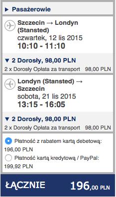 2015-11-12 Szczecin Lizbona Azory loty za 264 zl RT Ryanair easyJet 1