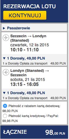 2015-11-12 Szczecin Lizbona Azory loty za 264 zl RT Ryanair easyJet samotnie 1