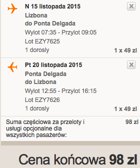 2015-11-12 Szczecin Lizbona Azory loty za 264 zl RT Ryanair easyJet samotnie 3