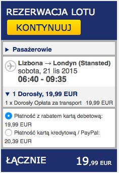2015-11-12 Szczecin Lizbona Azory loty za 264 zl RT Ryanair easyJet samotnie 4