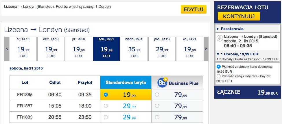 2015-11-12 Szczecin Lizbona loty za 298 zl RT Ryanair 3