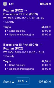 2015-11-15 Poznan Barcelona 108 zl RT Wizz Air