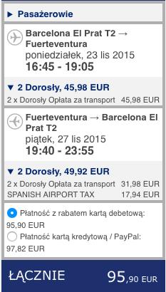 2015-11-17 Berlin Fuerteventura Wyspy Kanaryjskie 310 zl RT easyJet Ryanair 4