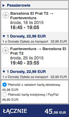 2015-11-17 Berlin Fuerteventura Wyspy Kanaryjskie 310 zl RT easyJet Ryanair 6