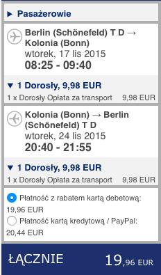 2015-11-17 Berlin Kolonia Skopie Macedonia 168 zl RT Ryanair Wizz Air 1